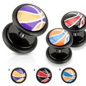 Akrylový falešný plug, barevný basketbalový míč, černé gumičky W11.17/18