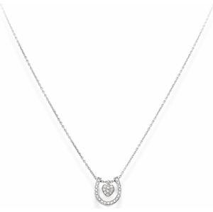 Amen Originální stříbrný náhrdelník se zirkony Horseshoe CLHSH