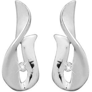 Art Diamond Stříbrné náušnice na šroubek s diamanty DAGUP1247S