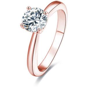Beneto Růžově pozlacený stříbrný prsten s krystaly AGG201 58 mm