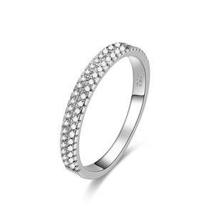 Beneto Stříbrný prsten se zirkony AGG337 58 mm