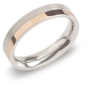 Boccia Titanium Pozlacený titanový snubní prsten 0129-07 56 mm