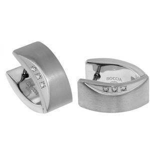Boccia Titanium Titanové náušnice s diamanty 05002-02