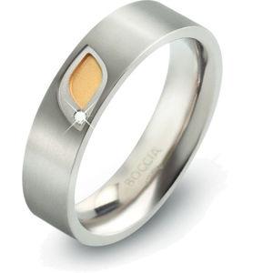 Boccia Titanium Titanový prsten s briliantem 0146-01 55 mm