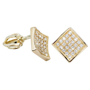 Brilio Náušnice ze žlutého zlata s krystaly 239 001 00574