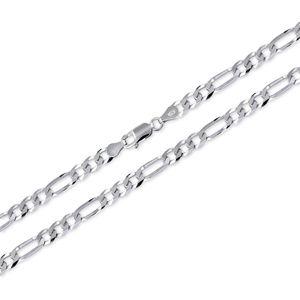 Brilio Silver Stříbrný náramek Figaro 22 cm 461 086 00168 04