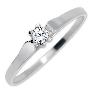 Brilio Zásnubní prsten z bílého zlata se zirkonem 226 001 00992 07 51 mm