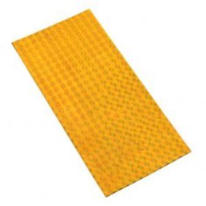 Celofánový sáček ve zlatém odstínu se čtvercovým vzorem a barevným leskem GY31