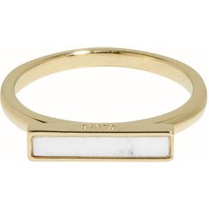 Cluse Stříbrný pozlacený prsten s mramorovou platformou CLJ41002 54 mm