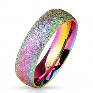 Duhový prsten z oceli 316L se třpytivým povrchem, 6 mm M02.09