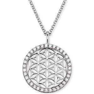 Engelsrufer Stříbrný náhrdelník Květ života se zirkony ERN-LILLIFL-ZI