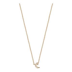 Esprit Růžově pozlacený stříbrný náhrdelník s půlměsícem ESNL00921242