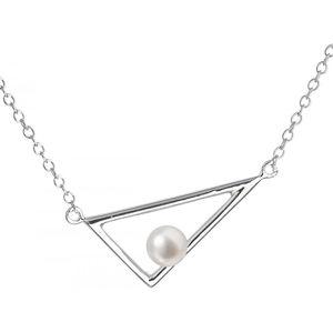 Evolution Group Stříbrný náhrdelník s pravou perlou Pavona 22020.1