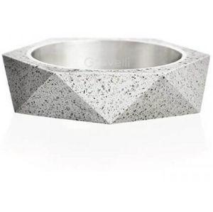 Gravelli Betonový prsten šedý Cubist GJRUSSG005 63 mm