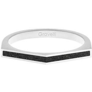 Gravelli Ocelový prsten s betonem Two Side ocelová/antracitová GJRWSSA122 56 mm