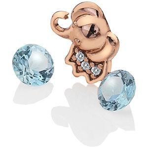 Hot Diamonds Element Slůně s topazy EX099