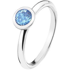 Hot Diamonds Stříbrný prsten Emozioni Scintilla Blue Peace ER022 57 mm