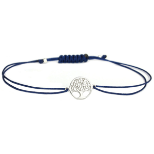 JVD Šňůrkový modrý náramek Strom života SVLB0146XH20000
