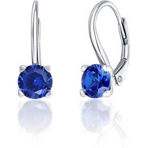JVD Stříbrné náušnice s modrými krystaly SVLE0503XF3M106