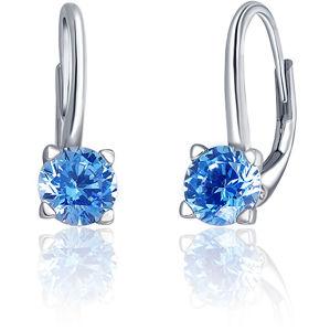 JVD Stříbrné náušnice s modrými krystaly SVLE0503XF3M206