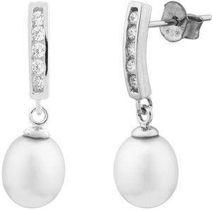 JVD Stříbrné náušnice s pravými perlami SVLE0164SD2P100