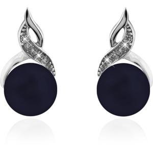 JVD Stříbrné náušnice s tmavými perlami SVLE0171SD2P300
