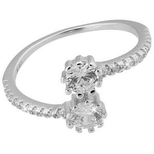 JVD Stříbrný prsten s krystaly SVLR0093XG4BI 56 mm