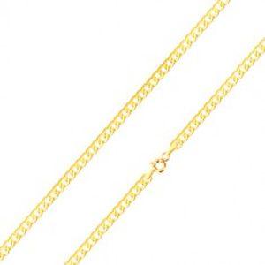 Lesklý řetízek ve žlutém 14K zlatě - plochá, sériově napojovaná očka, 500 mm GG187.18