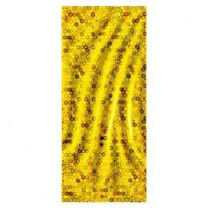 Lesklý zlatý celofánový dárkový sáček s kruhy TY21