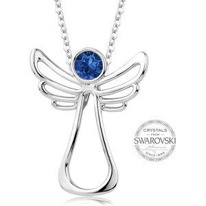 Levien Náhrdelník s tmavě modrým krystalem Guardian Angel LE0126