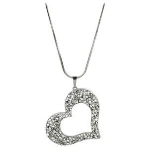 Levien náhrdelník Srdce se sypanými krystaly LE0002
