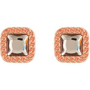 Liu.Jo Bronzové náušnice s krystalem LJ1283