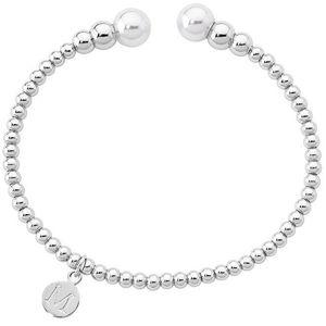 Majorica Pevný ocelový náramek s perlami 14626.01.0.000.010.1