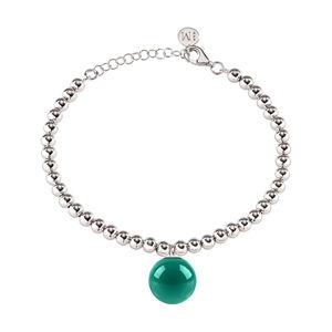 Morellato Ocelový náramek se zeleným přívěskem Boule SALY20