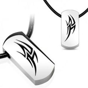 Náhrdelník na gumové šňůrce - ocelový řecký symbol AB6.09