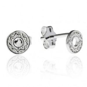 Náušnice ze stříbra 925 - kruh s cik-cak vzorem X13.09