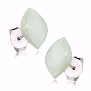 Náušnice ze stříbra 925, perleťové zrnko s jemným zelenkavým nádechem I36.09