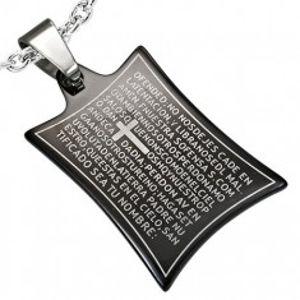 Ocelový přívěsek modlitba a kříž G21.08