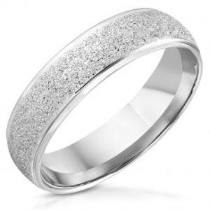 Ocelový prsten - pískovaný vystupující pás K11.12