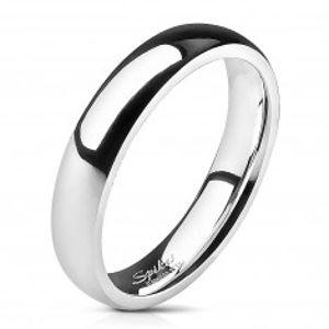 Ocelový prsten - stříbrný, hladký, 4 mm B2.3