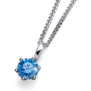 Oliver Weber Náhrdelník s modrým krystalem Morning Brilliance Medium 61125 BLU (řetízek, přívěsek)