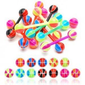 Piercing do jazyka basketbalový míč I15.18/24