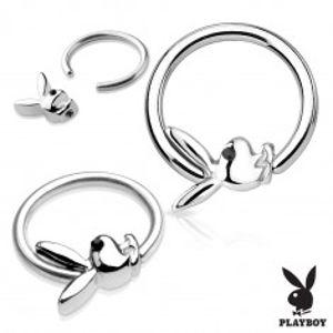 Piercing, kroužek z chirurgické oceli stříbrné barvy se zajíčkem Playboy AC20.18