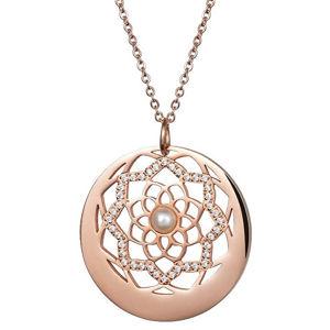 Preciosa Náhrdelník s krystaly a perličkou Flower of Love 7286P01