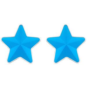 Preciosa Ocelové náušnice s matnou hvězdičkou Virgo Akva 7343 77