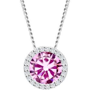 Preciosa Stříbrný náhrdelník Lynx Rosa 5268 69 (řetízek, přívěsek)