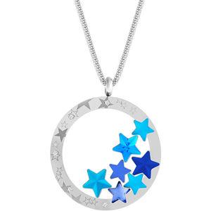 Preciosa Výrazný ocelový náhrdelník Virgo Akva 7340 67
