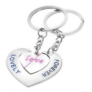 Přívěsky na klíče pro zamilované - srdce s nápisy LOVE a LOVELY FOREVER Y23.11