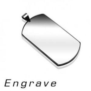 Přívěsek z chirurgické oceli - známka DOG TAG, stříbrná barva G11.9