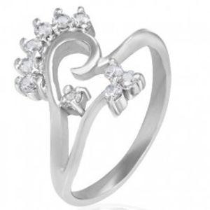 Prsten z chirurgické oceli - květinový motiv K12.4